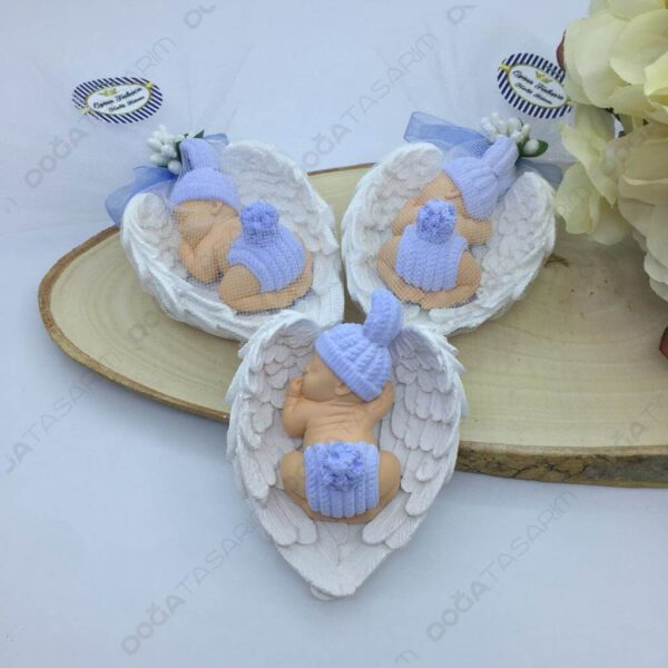 Mavi Bebek Kokulu Taş Magnet