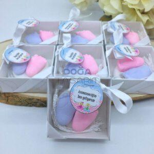 Bebek Müjdesi Hediyeleri Minik Bebek Ayakları Kokulu Taş