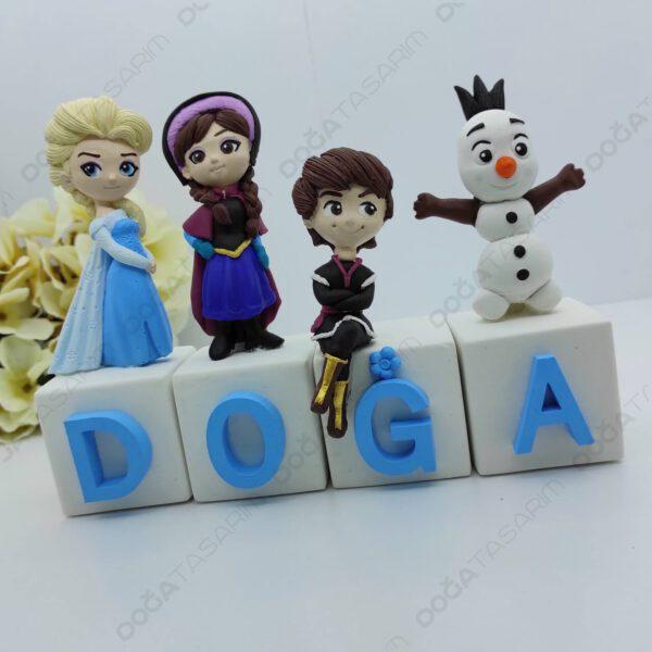 Elsa Temalı Küp Kokulu Taş İsimlik (2)