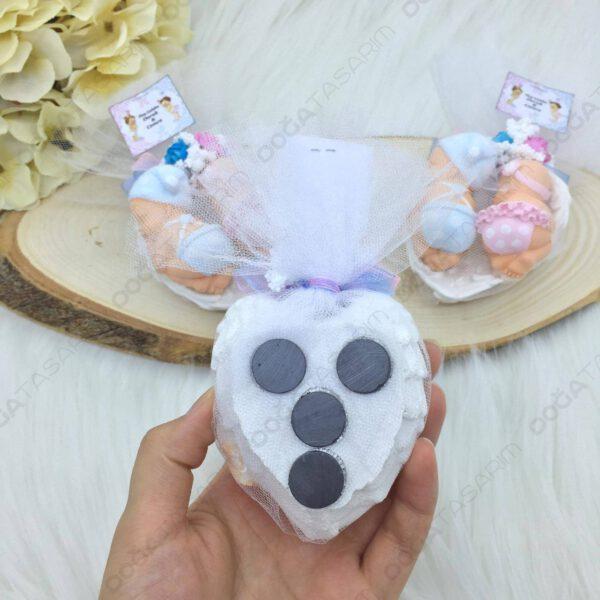 Kız & Erkek İkiz Bebek Hediyelikleri Kokulu Taş Magnet (5)