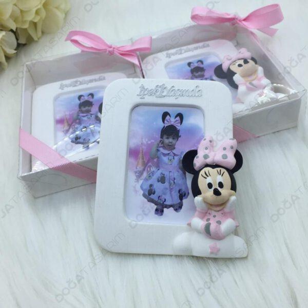 Minnie Mouse Fotoğraf Çerçevesi Kokulu Taş Magnet Hediyelikler (1)