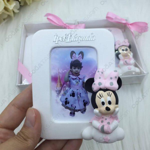 Minnie Mouse Fotoğraf Çerçevesi Kokulu Taş Magnet Hediyelikler (2)