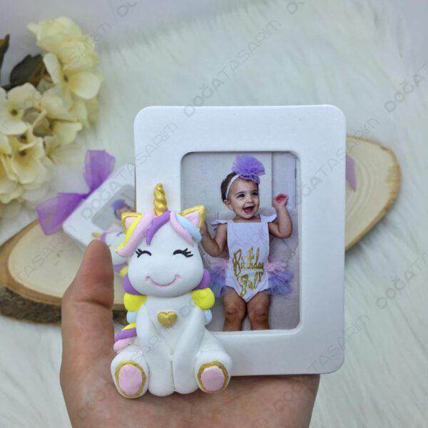 Unicorn Fotoğraf Çerçevesi Magnet Hediyelik (2)