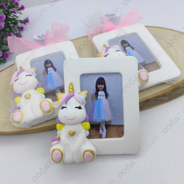 Unicorn Fotoğraf Çerçevesi Magnet Hediyelik (3)