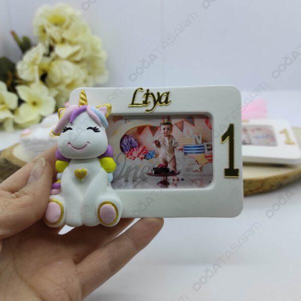 Unicorn Hediyelikler Fotoğraf Çerçevesi Magnet Kokulu Taş (3)