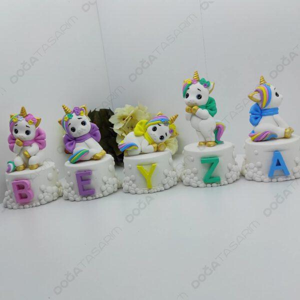 Unicorn Konsept Bebek Odası Kokulu Taş İsimlik (2)