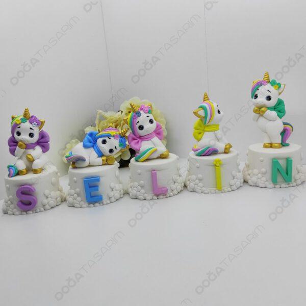 Unicorn Konsept Bebek Odası Kokulu Taş İsimlik (3)