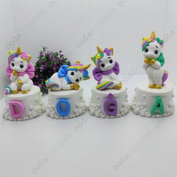 Unicorn Konsept Bebek Odası Kokulu Taş İsimlik (4)